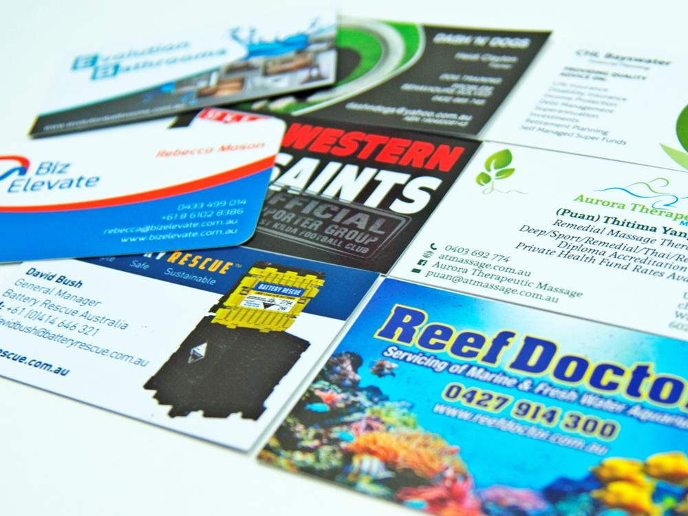 Printing services signs wa business cards reheart Choice Image