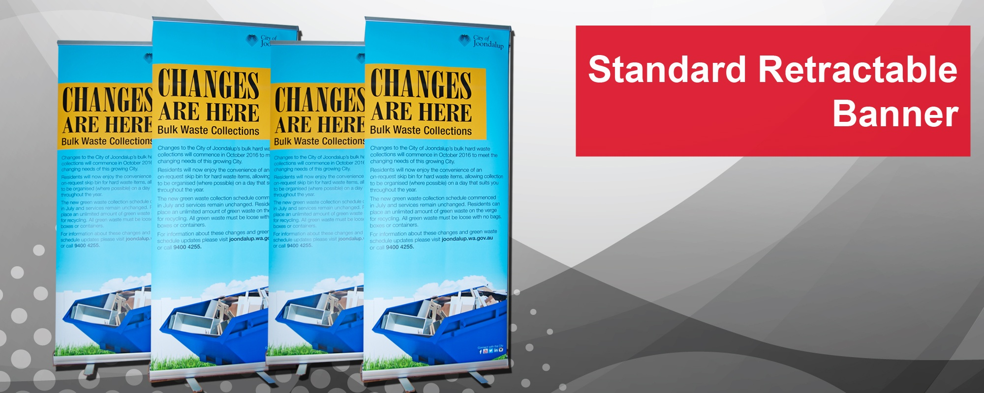 retractable pop up and pull up banners perth